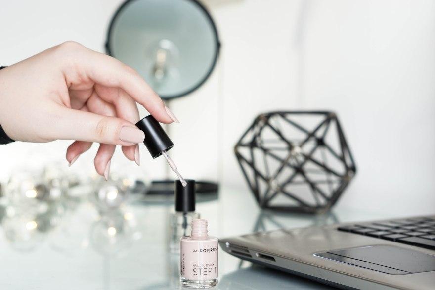 korres gel nail polish nude pink